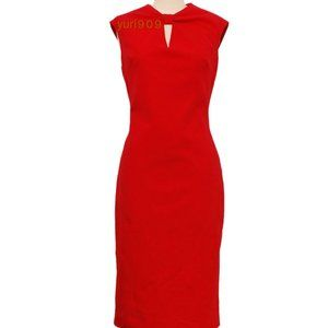 Ted Baker Red Kezzia Bow Neck Bodycon Dress